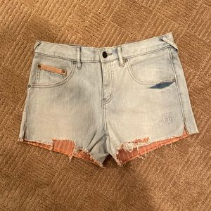 Free people distressed jeans shorts